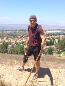 SAM brace hiking